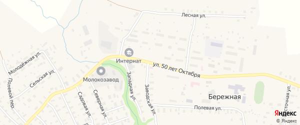 Улица 50 лет Октября на карте поселка Сенгоса с номерами домов