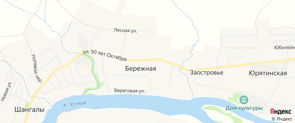 Карта деревни Заостровья в Архангельской области с улицами и номерами домов