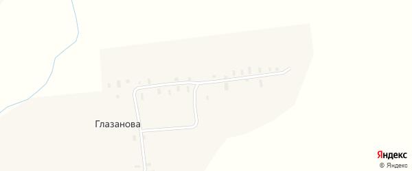 Овражный переулок на карте деревни Глазанова с номерами домов