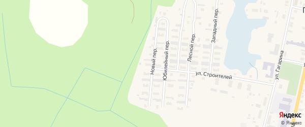 Новый переулок на карте поселка Пинеги с номерами домов