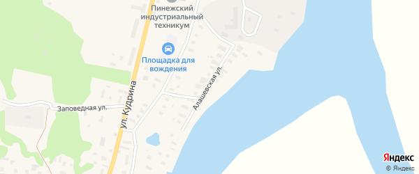 Алашевская улица на карте поселка Пинеги с номерами домов