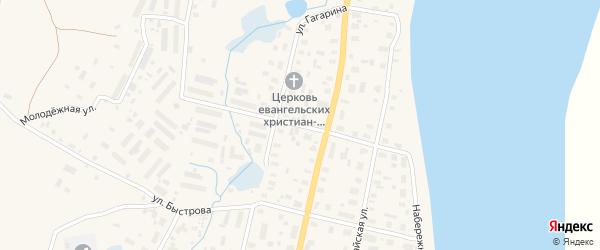 Улица Серафимовича на карте поселка Пинеги с номерами домов
