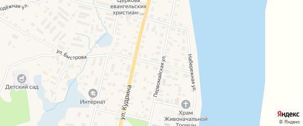 Улица Быстрова на карте поселка Пинеги с номерами домов