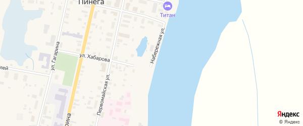 Набережная улица на карте поселка Пинеги с номерами домов