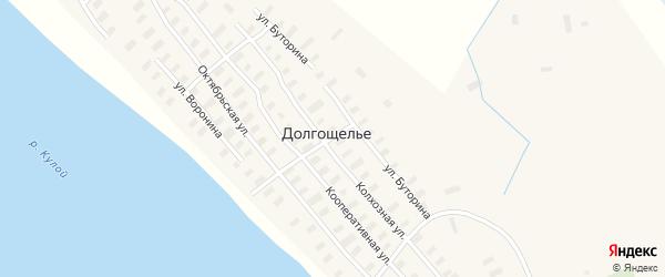 Октябрьская улица на карте села Долгощелья с номерами домов