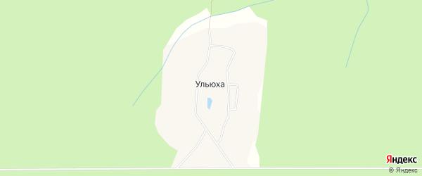 Карта поселка Ульюхи в Архангельской области с улицами и номерами домов