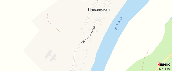 Верхняя улица на карте Плесевской деревни с номерами домов