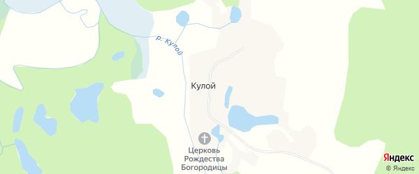 Карта деревни Кулоя в Архангельской области с улицами и номерами домов