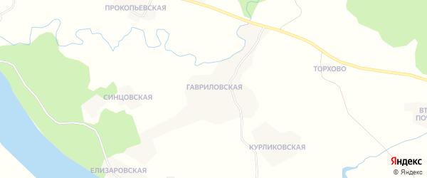 Карта деревни Кургомени в Архангельской области с улицами и номерами домов