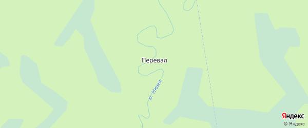 Карта поселка Перевала в Архангельской области с улицами и номерами домов