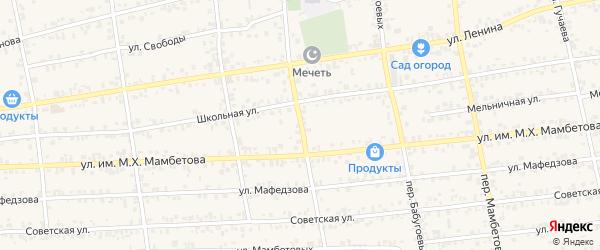 Переулок Арипшева на карте Чегема с номерами домов