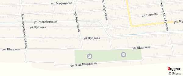 Улица Им Кудаева на карте Чегема с номерами домов