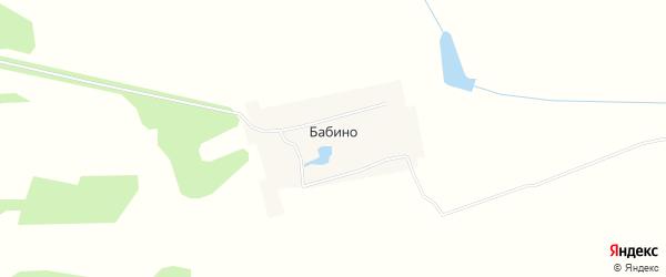 Карта села Бабино города Первомайска в Нижегородской области с улицами и номерами домов
