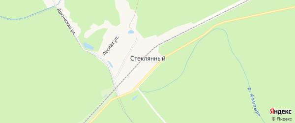 Карта Стеклянного поселка города Первомайска в Нижегородской области с улицами и номерами домов