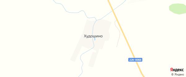 Карта села Худошино города Первомайска в Нижегородской области с улицами и номерами домов
