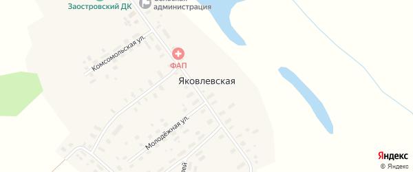 Комсомольская улица на карте Яковлевской деревни с номерами домов