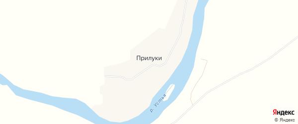 Карта деревни Прилук в Архангельской области с улицами и номерами домов