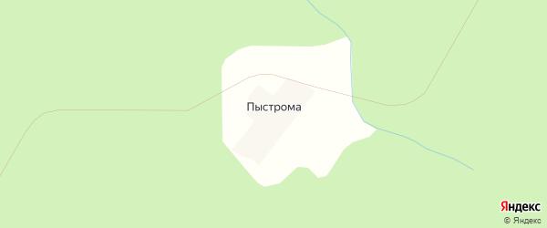 Карта поселка Пыстромы в Архангельской области с улицами и номерами домов