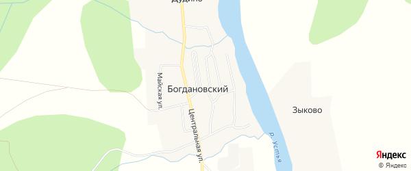Карта деревни Дудино в Архангельской области с улицами и номерами домов