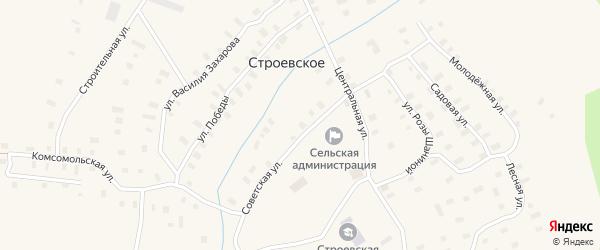 Улица Розы Шаниной на карте Строевского села с номерами домов