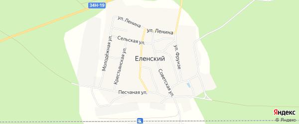 Карта Еленского поселка в Костромской области с улицами и номерами домов