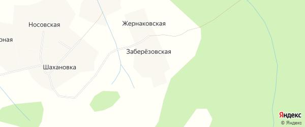 Карта Жернаковской деревни в Архангельской области с улицами и номерами домов