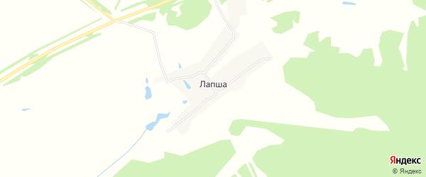 Карта села Лапши города Первомайска в Нижегородской области с улицами и номерами домов