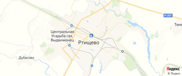 Карта Ртищево с районами, улицами и номерами домов