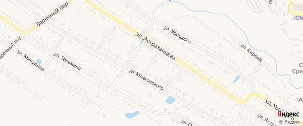 Переулок 1-Астраханцева на карте Первомайска с номерами домов