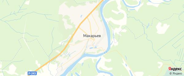 Карта Макарьева с районами, улицами и номерами домов