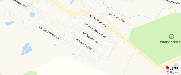 Улица Корякова на карте Первомайска с номерами домов
