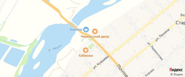 Улица Федеральная дорога Кавказ на карте Дербента с номерами домов