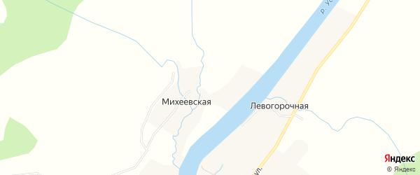 Карта Правогорочной деревни в Архангельской области с улицами и номерами домов