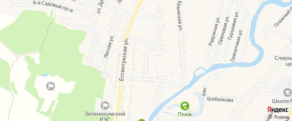 Ессентукский проезд на карте Зеленокумска с номерами домов