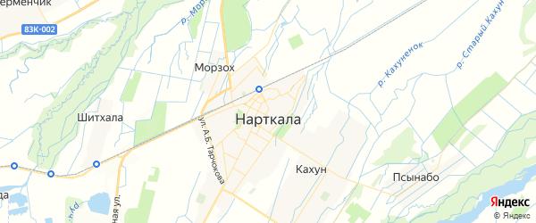 Карта Нарткалы с районами, улицами и номерами домов