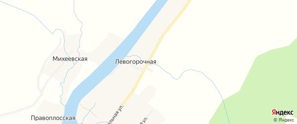 Карта Левогорочной деревни в Архангельской области с улицами и номерами домов