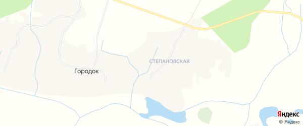 Карта деревни Городка в Архангельской области с улицами и номерами домов