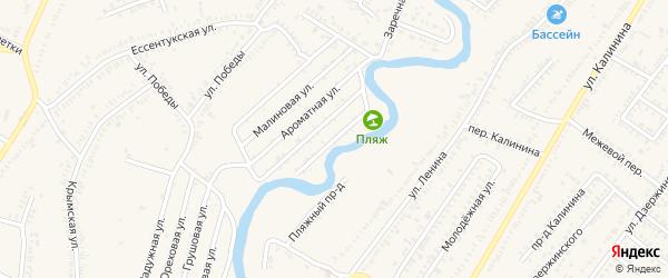 Васильковая улица на карте Зеленокумска с номерами домов