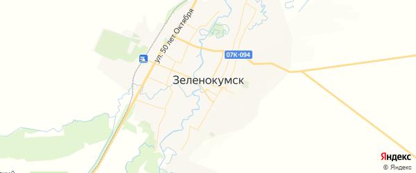 Карта Зеленокумска с районами, улицами и номерами домов