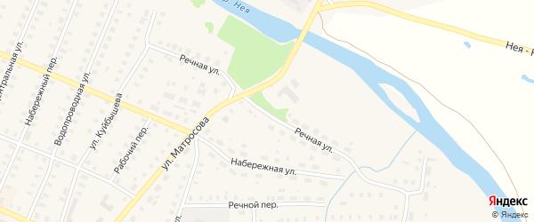 Речная улица на карте Неи с номерами домов
