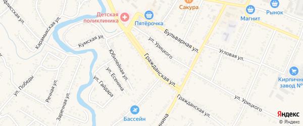 Гражданская улица на карте Зеленокумска с номерами домов