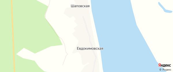 Карта Евдокимовской деревни в Архангельской области с улицами и номерами домов