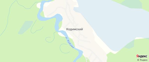 Карта Кодимского поселка в Архангельской области с улицами и номерами домов