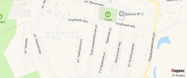 Красноармейская улица на карте Неи с номерами домов