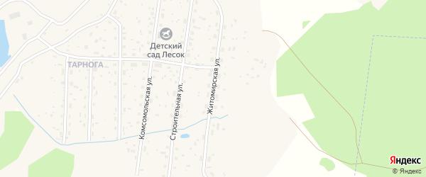 Житомирская улица на карте поселка Илезы с номерами домов