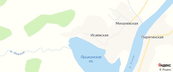 Карта Михалевской деревни в Архангельской области с улицами и номерами домов