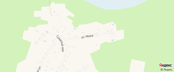 Улица Мира на карте поселка Илезы с номерами домов