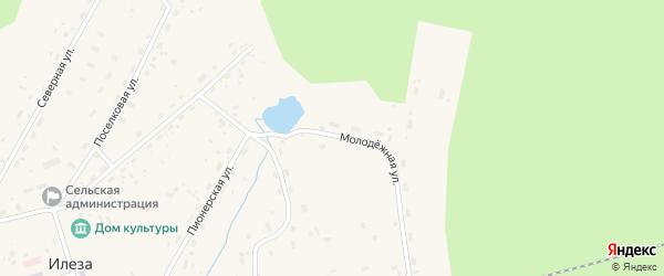Молодежная улица на карте поселка Илезы с номерами домов
