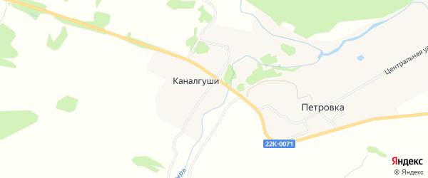 Карта деревни Каналгуши города Первомайска в Нижегородской области с улицами и номерами домов