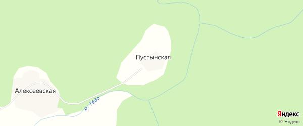 Карта Пустынской деревни в Архангельской области с улицами и номерами домов